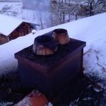 Kamin nach einem Brand